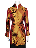 Chrysanthemum Thai Silk Mandarin Coat