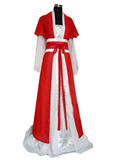 Women's Long Satin Hanfu with Outer Coat